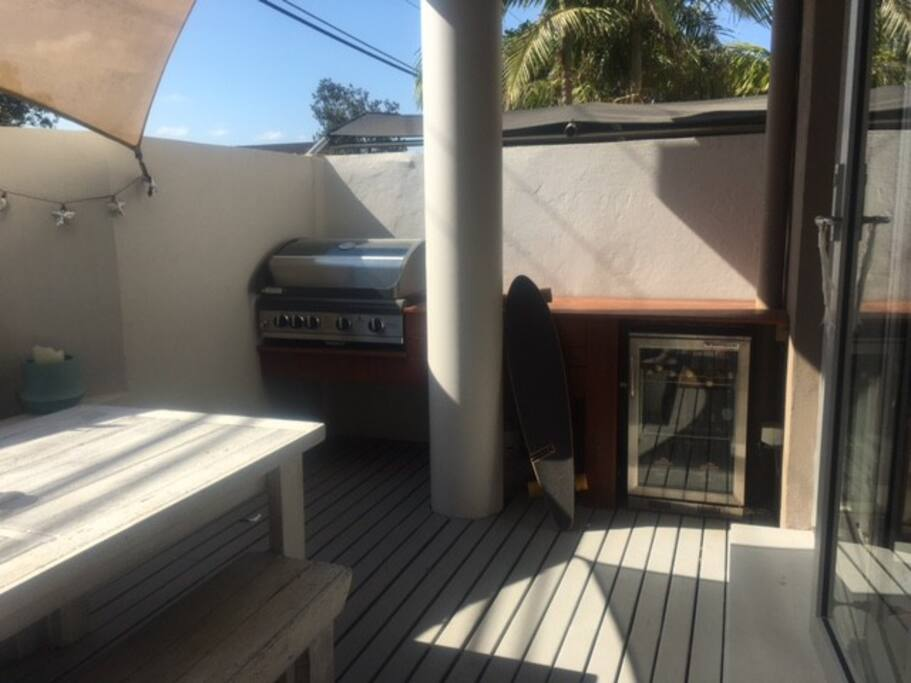 Gas BBQ, Fridge and Outdoor shower