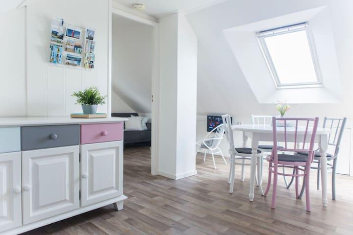 Appartement op loopafstand van strand/bos/centrum