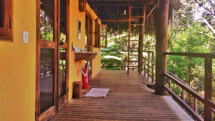 Quarto na casa Mandala - Piracanga ecovila - Itacaré  - Casa