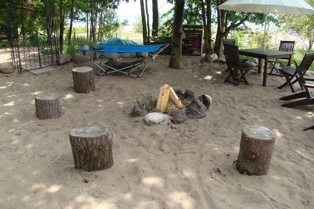 """Circle of Truth"" fire-pit area....enter if you dare!!"
