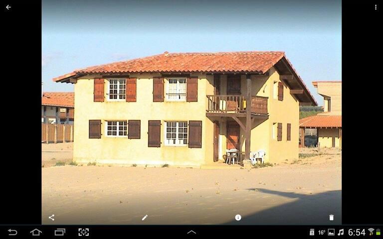 Maison 5 personnes sur la dune