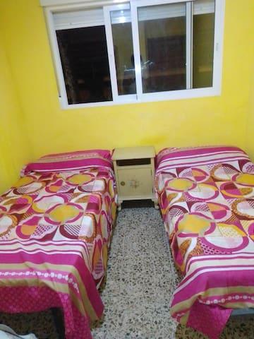 Habitación Doble 2 camas  Piscina cerca del Mar