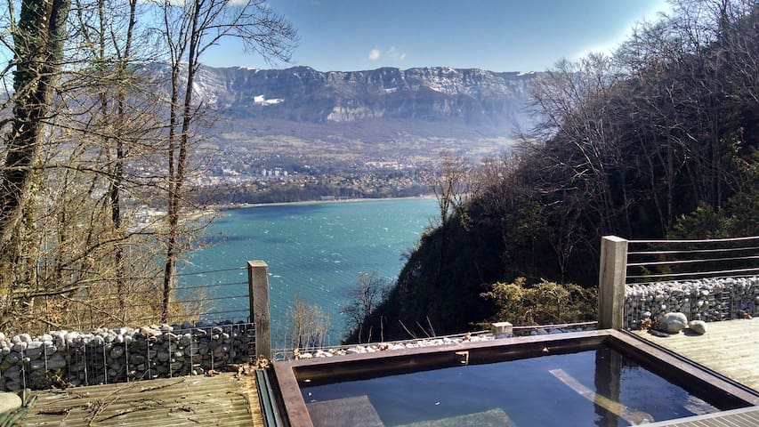 Luxury chalet-stunning view- 5 mns from the beach - La Chapelle-du-Mont-du-Chat - House