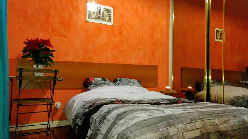 Spacious bedroom in a comfy apartment - Villejuif