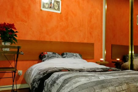 Spacious bedroom in a comfy apartment - Villejuif - Hus
