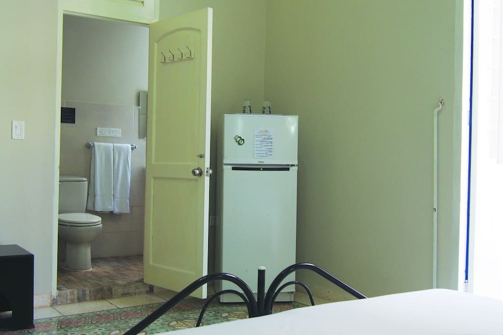 Deluxe Luxury Room #3 comes with a fully stocked mid-sized fridge