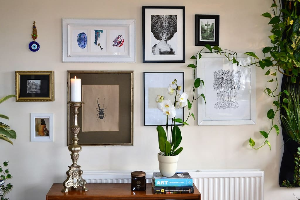 Our home brims with art and objects gleaned from our distant travels and is pruned to glamorous perfection.