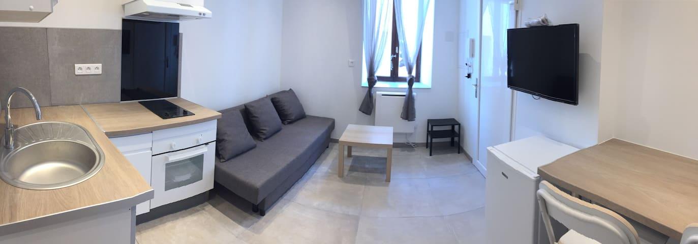 Merveilleux Studio-RDC - rénové/meublé