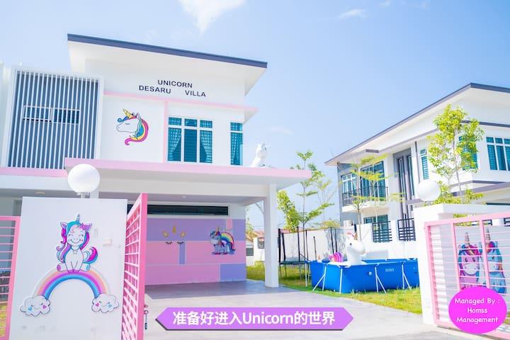 Unicorn Desaru Villa/15paxmore/Beach/pool/Ktv