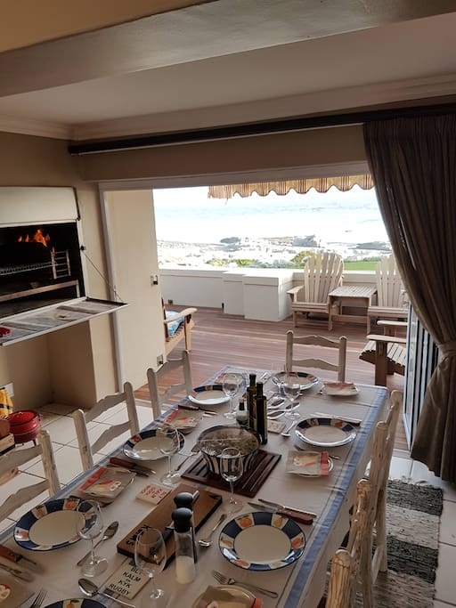 Enjoy the fireplace and braai