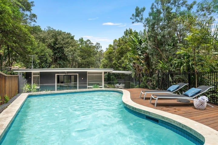 Tranquil Coastal Retreat with designer pool