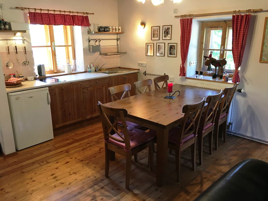 Kitchen with the dinning area