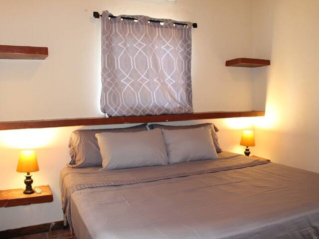 Master suite with king bed, AC and ensuite bathroom