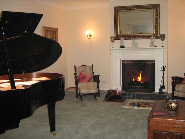 Lounge Sitting Room with Piano