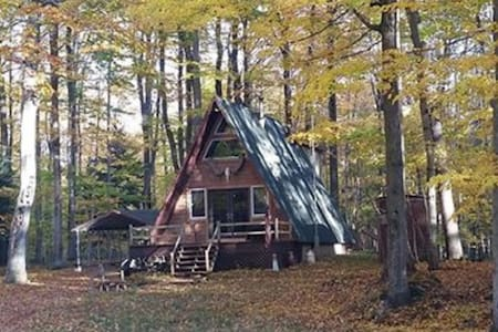 Outdoorsy AFrame Set Back On Acreage - Hamlin Lake