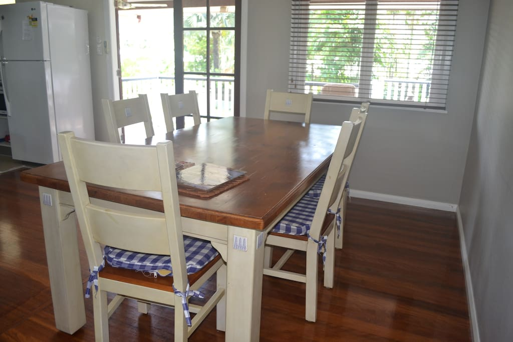 dining table/ dining area