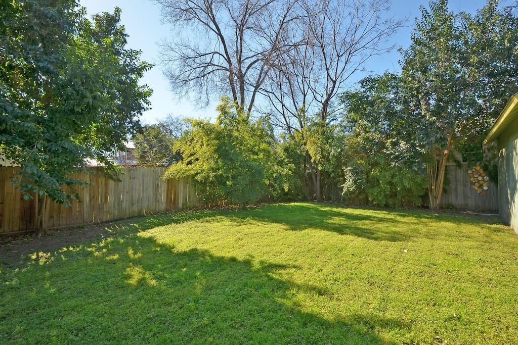 Fully fenced backyard. Your own private oasis!