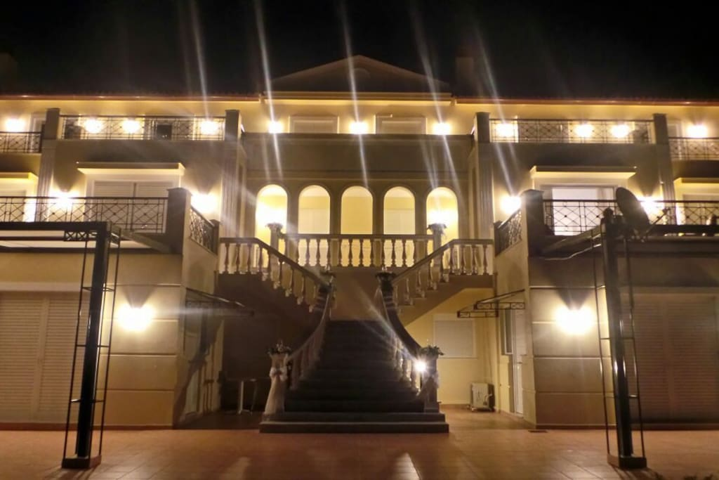 Night view of the Villa