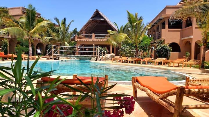 Apt in resort with pool, 150mt from Kiwengwa beach