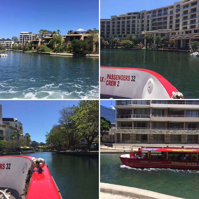Experience the magic of the Waterfront canal and surroundings, leaving on water-taxi from outside your apartment
