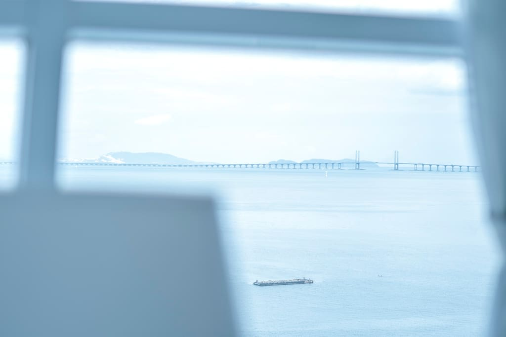 Penang bridge from our unit.