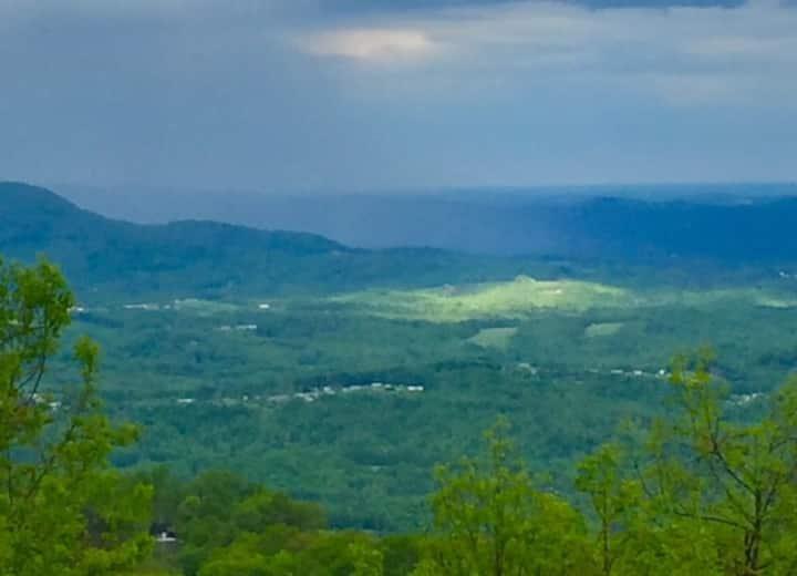 Blue Ridge Parkway at Fancy Gap, 80 Mile View