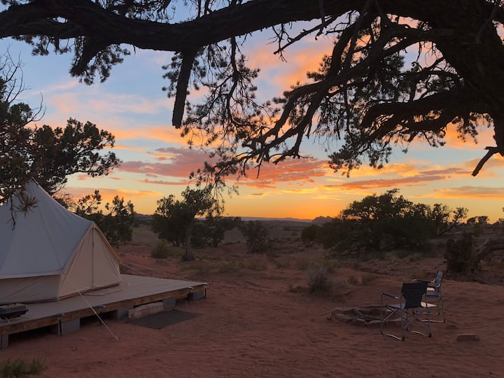 Antelope Pass EcoRetreat Glamping Bell Tent