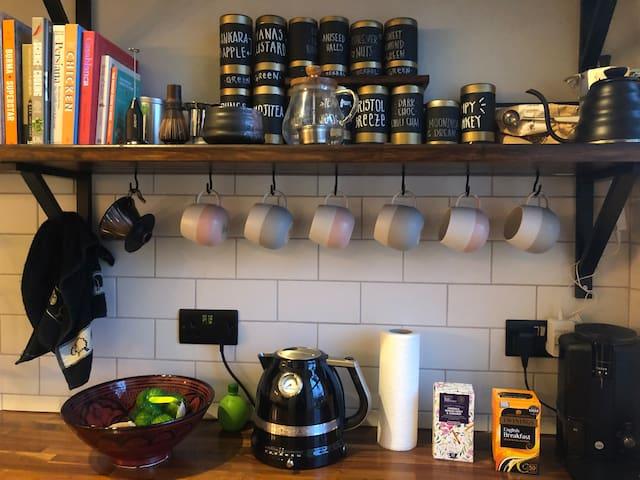 Help yourself to tea :)