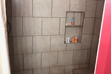 Walk in shower with seat
