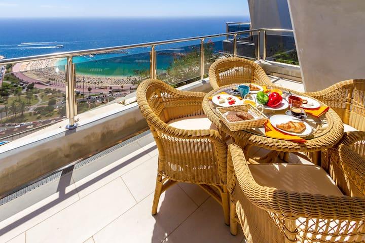 Unforgettable direct view to Amadores beach - Mogán - Apartamento