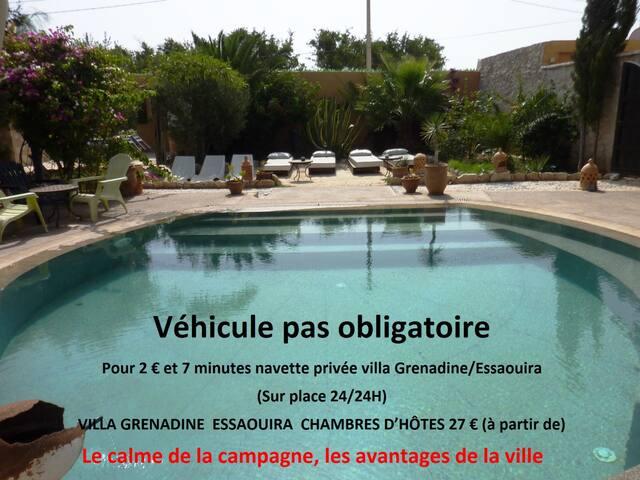 Villa Grenadine Petit déjeuner inclus Piscine - Essaouira - Bed & Breakfast