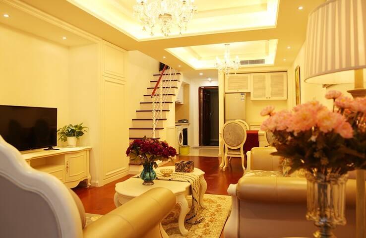 唐岛湾奢华海景商务1.5m双床套房 - Tsingtao - Appartamento
