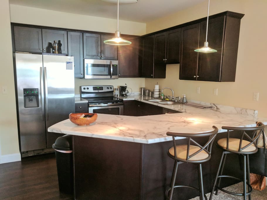 Full Modern Kitchen, open for guest use - with morning coffee!
