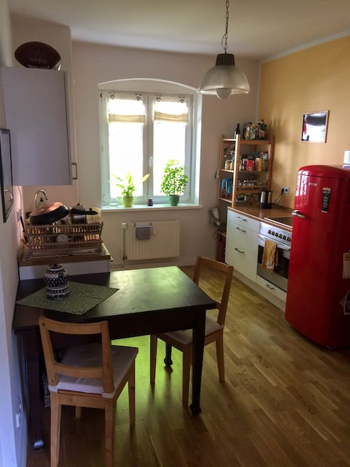 That's the shared kitchen. Feel like home!