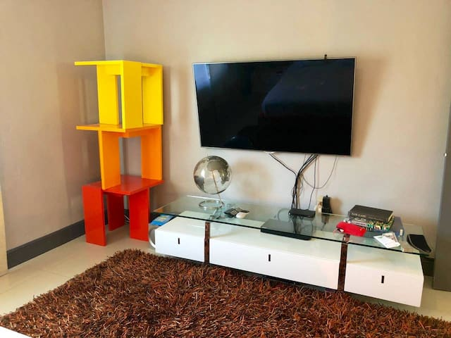 Main bedroom flat screen tv