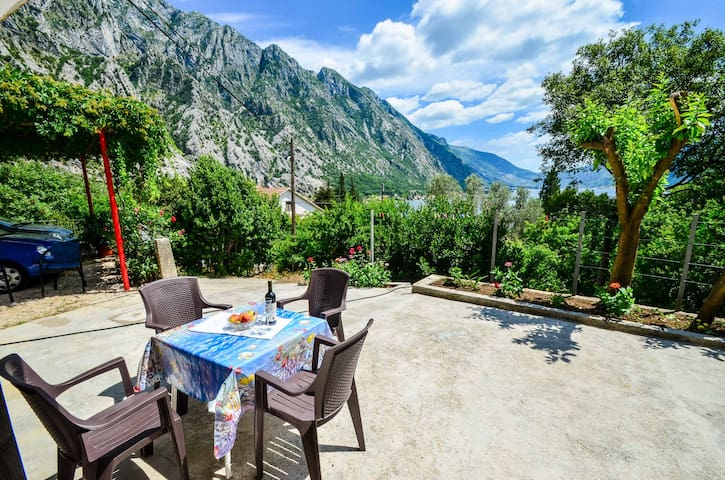 Garden seaview apartment near Kotor