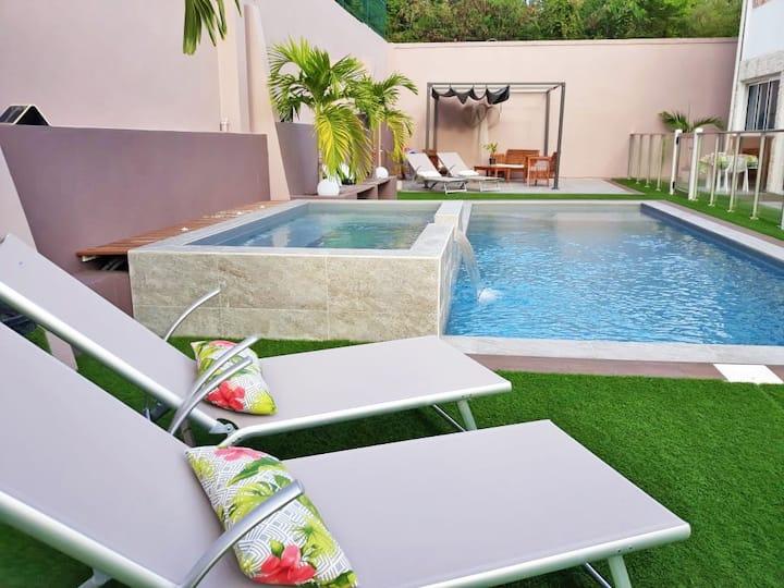 Location cozy piscine jacuzzi proche Golf+plages