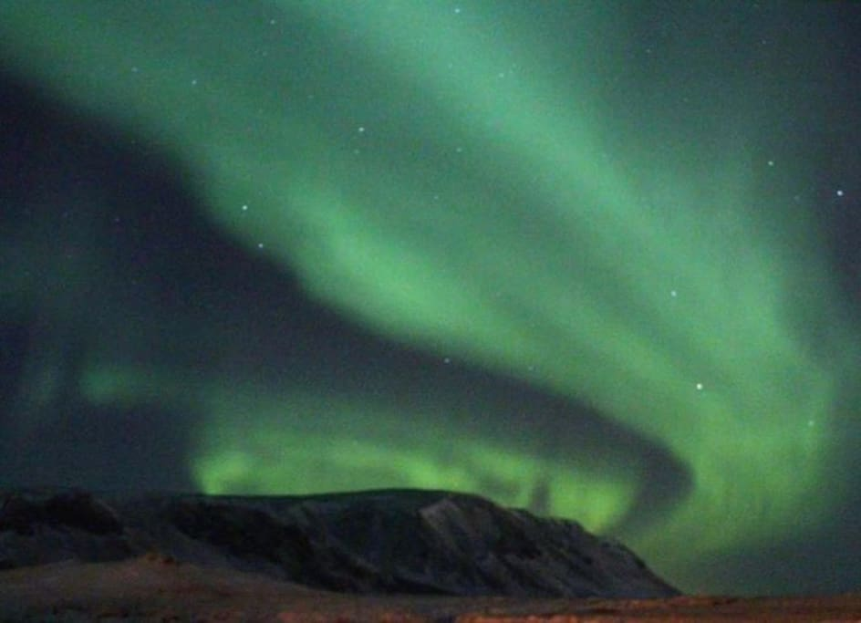 Northern Lights over the mountain Ingólfsfjall
