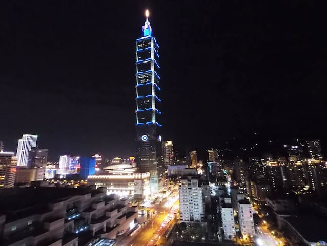 Taipei 101 五星級 Hometel 全新装潢 电梯大楼 1min to MRT - Xinyi District - Byt