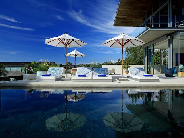 Modern edges beachside Villa Aqua - an elite haven 3BR in Natai Beach