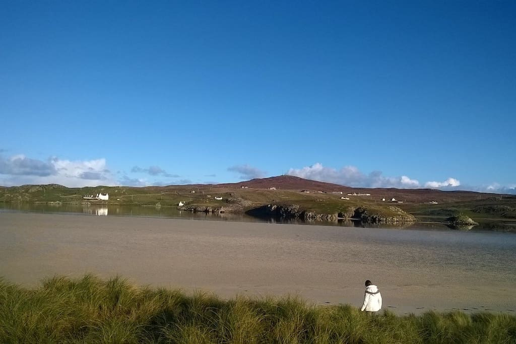 Uig Sands, accessible from house.
