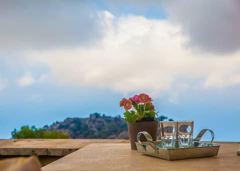 Smaragda  Country House bezokolicznik widok na morze