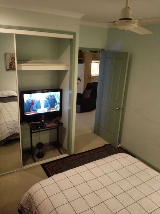 TV in bedroom