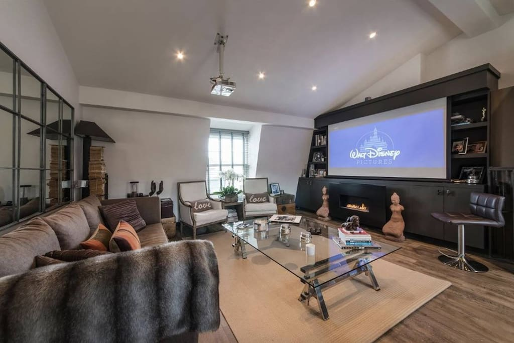 Living Area with Cinema Screen