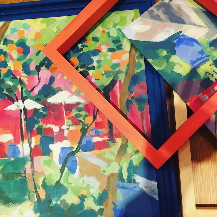 create bold acrylic landscape paintings