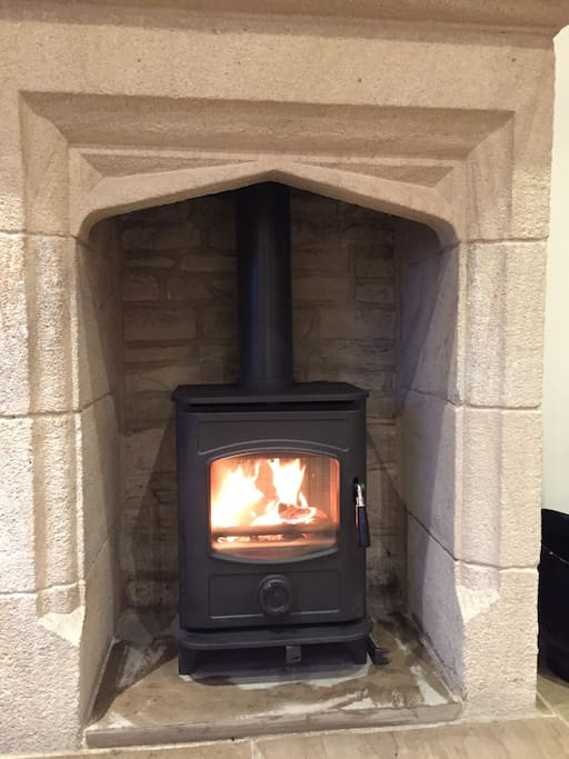 cosy evenings by log burning stove