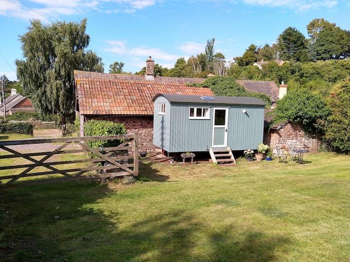 En suite Shepherd's Hut,  Doverhay Farm, Exmoor