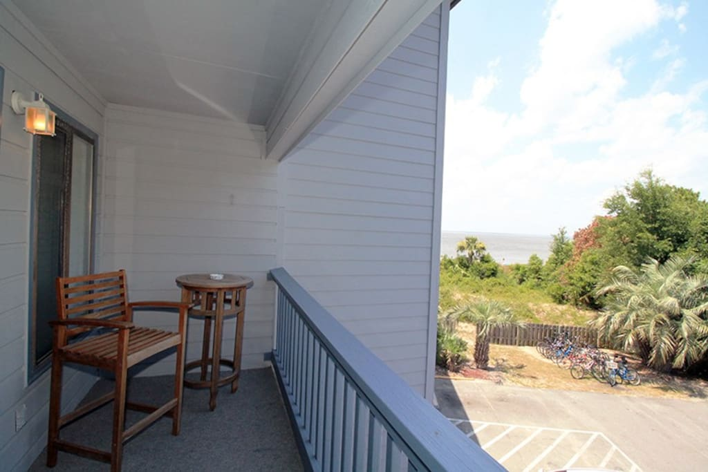 View of the Atlantic Ocean and Savannah River Entrance from your Private Balcony