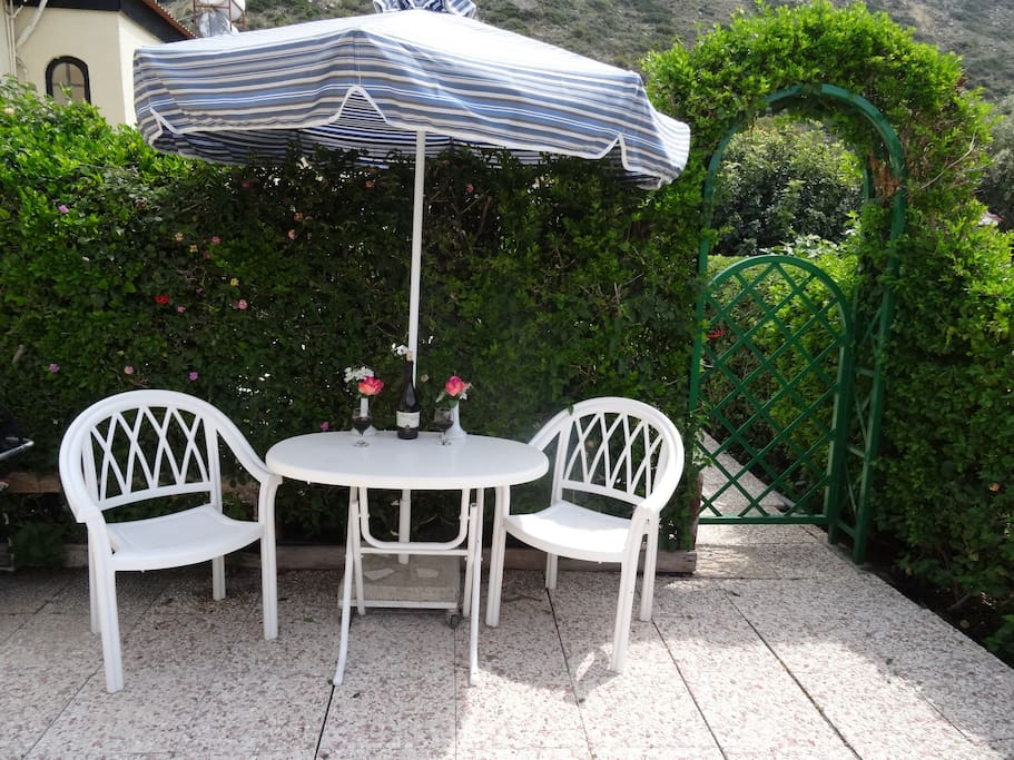 Outdoor-dining or drinks on the patio/garden