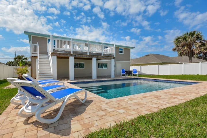 Gorgeous home with pool!  Walk to car free beach!  4717S